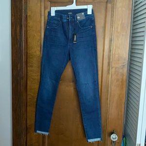 Express Jeans - High Waisted, frayed bottom, NWT